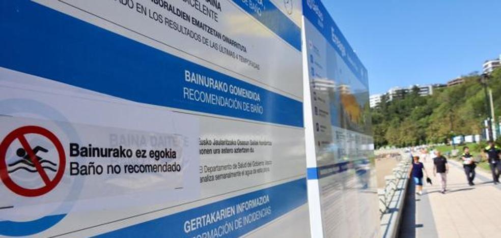 El Gobierno Vasco cierra al baño cuatro playas de Bizkaia por contaminación fecal