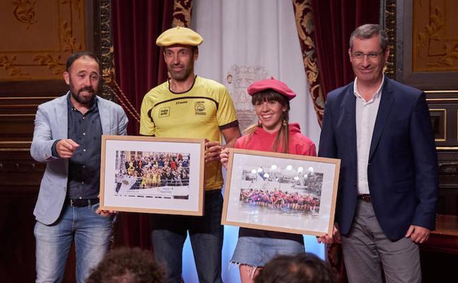 Recibimiento a Orio y San Juan en la Diputación de Gipuzkoa