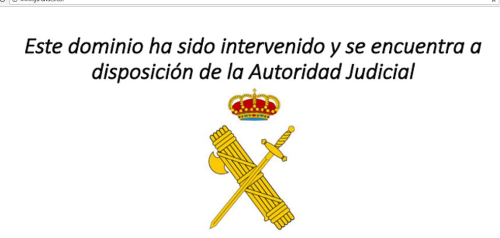 La Guardia Civil cierra otras dos webs vinculadas al 1-O