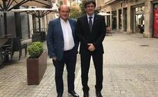 Ortuzar se reúne con Puigdemot en Girona