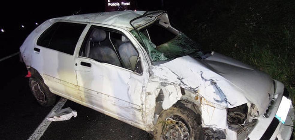 Herido de gravedad un donostiarra en un accidente en Leitza