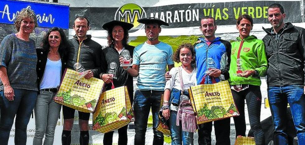 Jon Aizpurua y Natacha López ganaron el maratón del Plazaola
