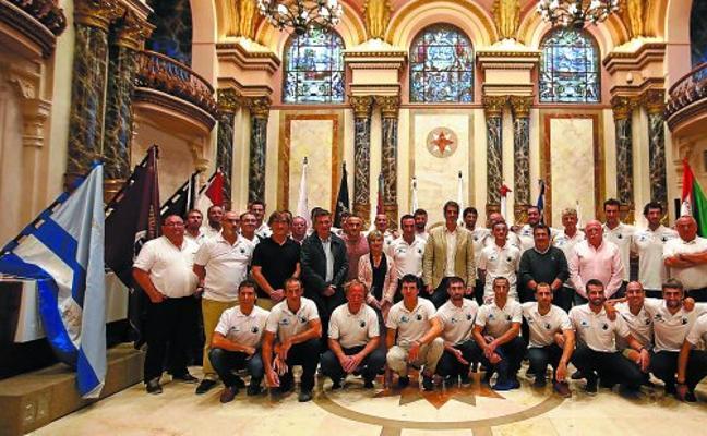 Recepción a Donostiarra en el ayuntamiento