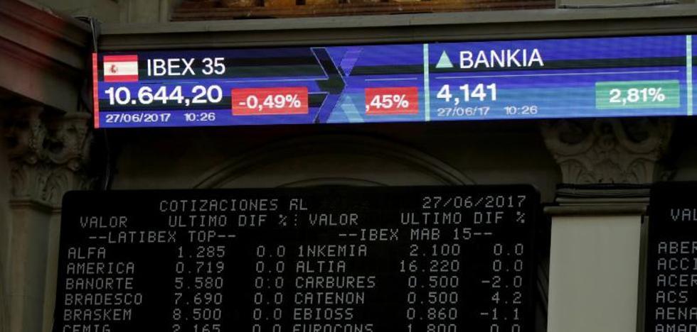 Nuevo asalto fallido del Ibex-35 a los 10.400 puntos