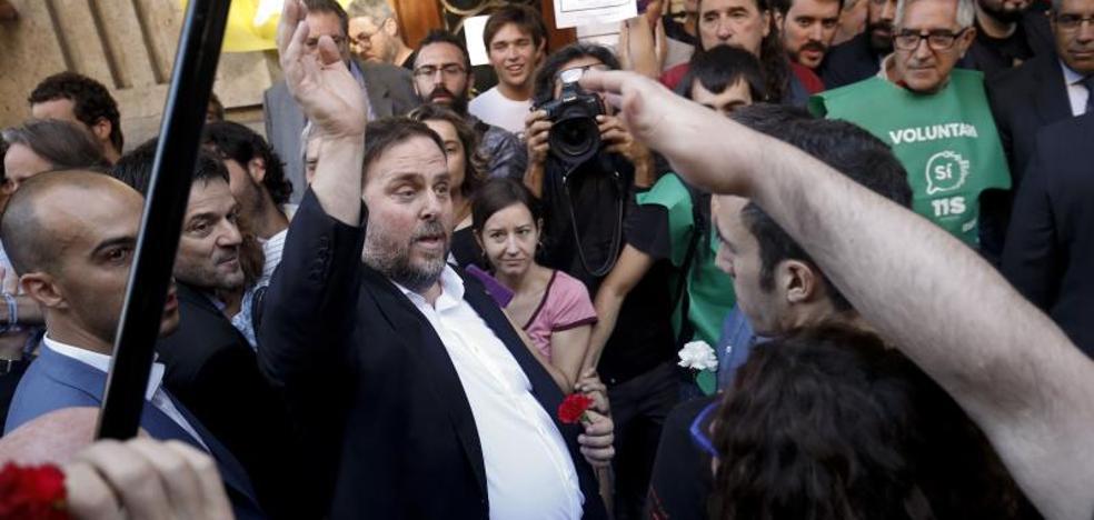 Junqueras llama a persistir «para defender las instituciones»