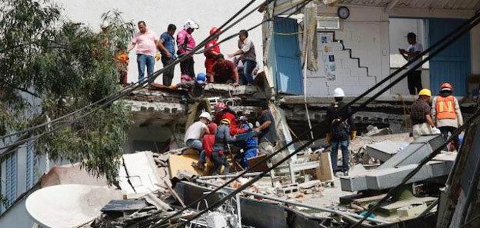 Destrucción en México tras el terremoto