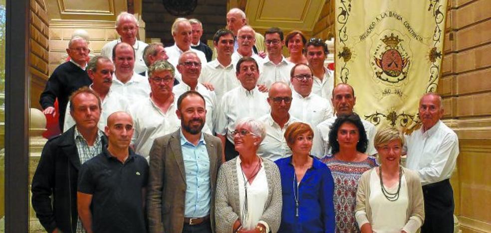 La Diputación celebró una recepción a la Banda de música Konstantzia