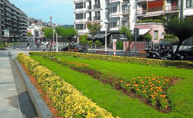 El 'Babosil' ha sido utilizado durante esta pasada primavera en algunos jardines de la ciudad, como este de la céntrica plaza Zaragoza.