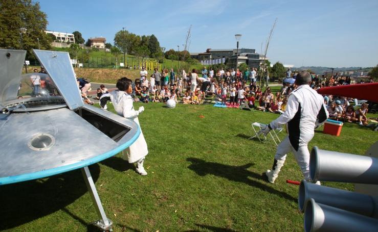 Cultura al aire libre en un día de verano