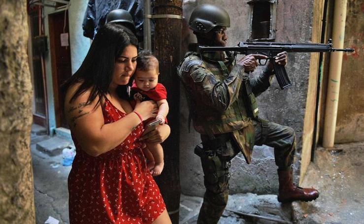 Una zona de guerra en Río de Janeiro