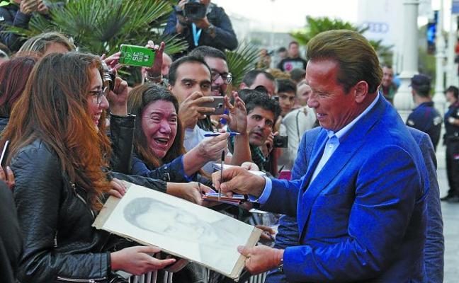 El homenaje gastronómico de Schwarzenegger en Donostia