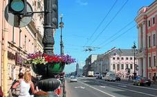 San Petersburgo, de blanco y azul