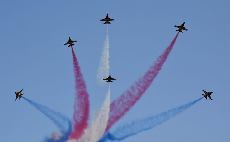 Acrobacias aéreas en Corea