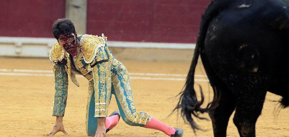 Cayetano, «grave» tras ser corneado en la Feria del Pilar