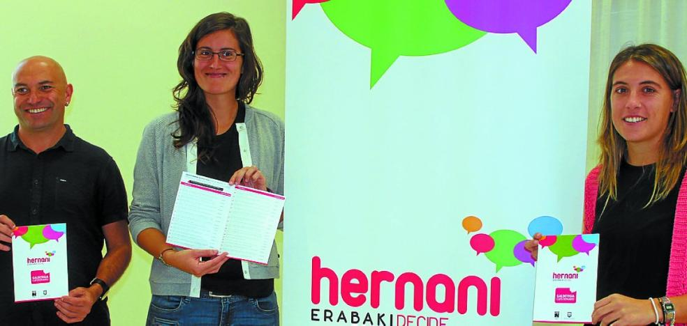 Desde el lunes se podrán votar las propuestas de Hernani Erabaki