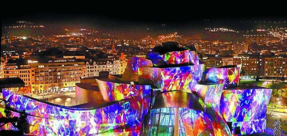 Y el Guggenheim estalló de luz