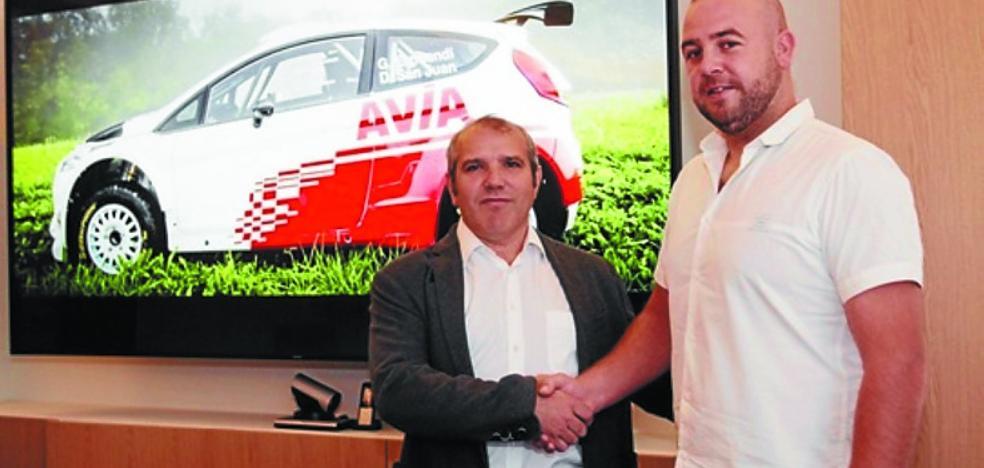 AVIA, nuevo patrocinador del piloto de rallys oriotarra Gorka Eizmendi