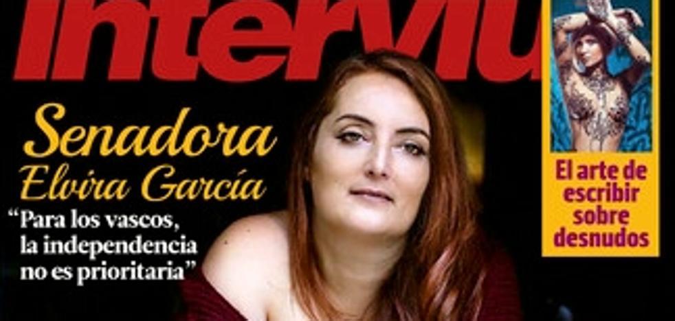 La senadora alavesa tránsfuga de Podemos, portada de 'Interviú'