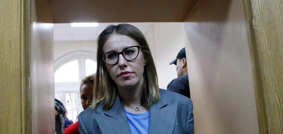 Irrumpe en la carrera hacia el Kremlin la reina del espectáculo televisivo ruso