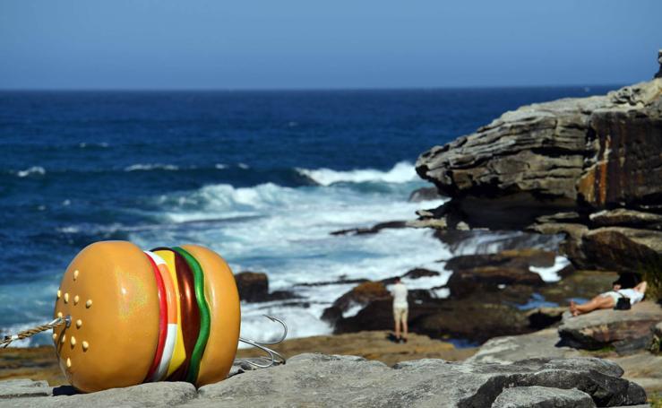 Esculturas en la playa de Sídney
