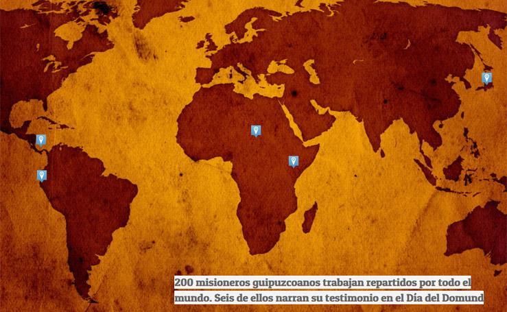 Misioneros guipuzcoanos por el mundo