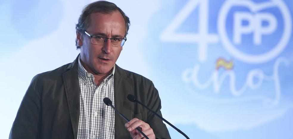 Alfonso Alonso exige a Urkullu que aleje cualquier riesgo de contagio con Cataluña