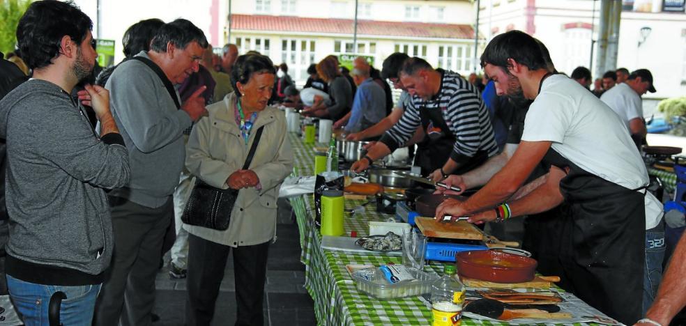 Diecisiete cazuelas de bacalao al pil pil en Hernani
