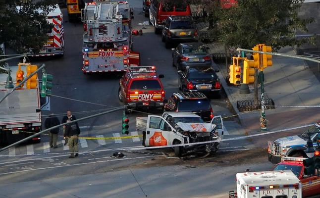 Un atropello múltiple «terrorista» deja al menos ocho muertos en Manhattan