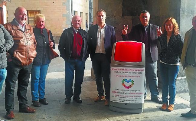 Azpeitia se suma a la campaña de los tapones solidarios