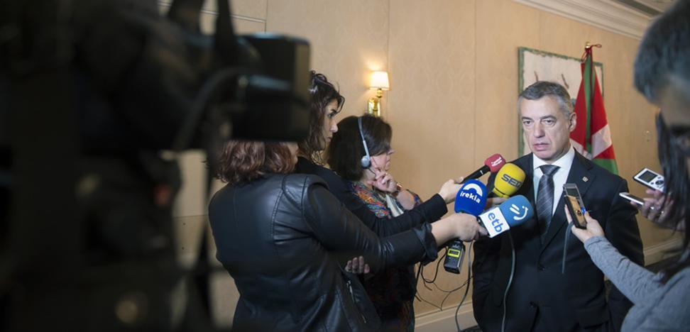 Urkullu denuncia la «politización de la Justicia» en el Estado español