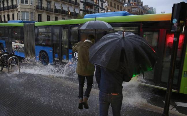 Aviso amarillo en Gipuzkoa por lluvias que podrán dejar 60 litros en 24 horas