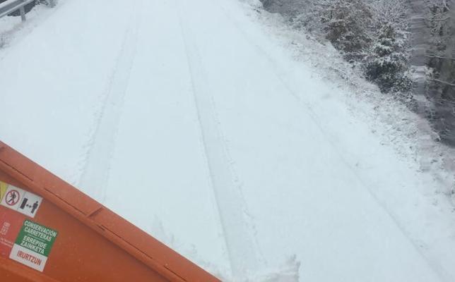 Llegan a Gipuzkoa las primeras nevadas