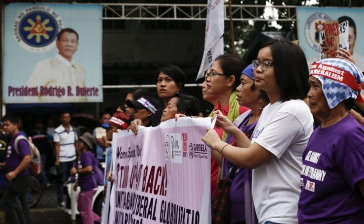 Protestas por la llegada de Trump a Filipinas