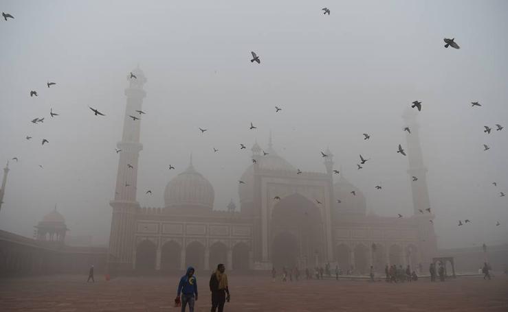 Nueva Delhi bajo una nube de polución