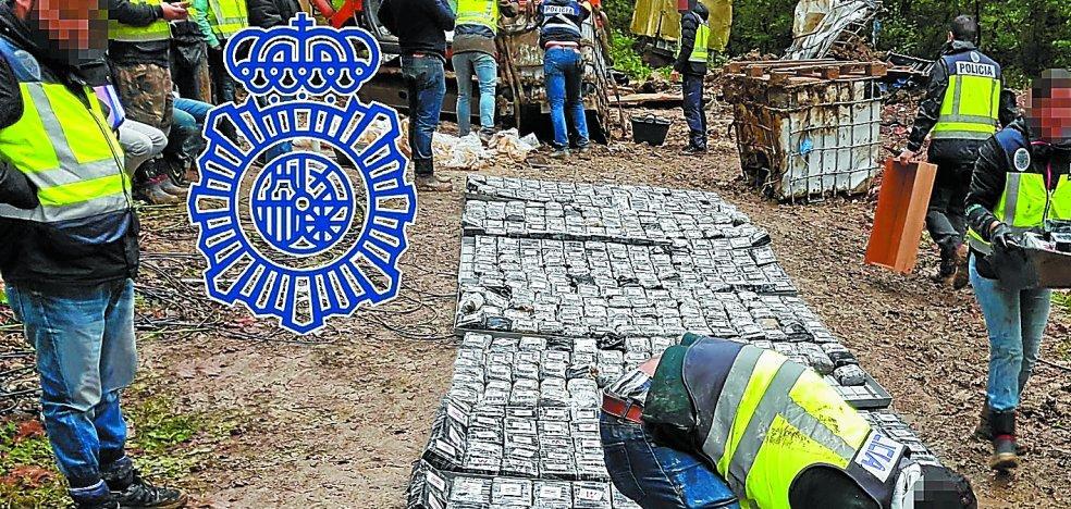 La cocaína descubierta en Zarautz habría alcanzado un valor de 67 millones de euros