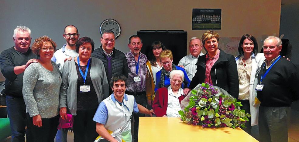 Florencia Iriarte celebró ayer su 100 cumpleaños