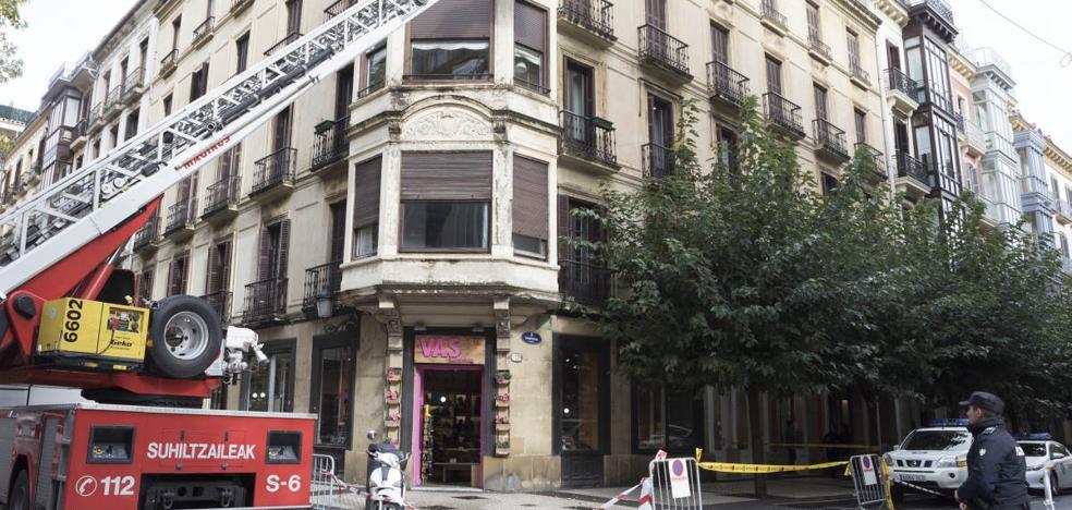 Desprendimientos en el centro de San Sebastián