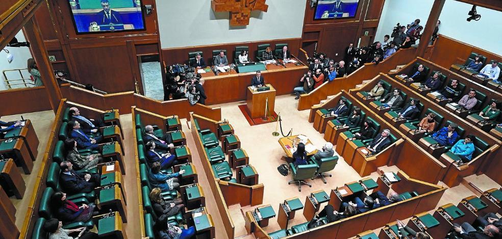 Las interpelaciones de control al Gobierno Vasco caen a la mitad
