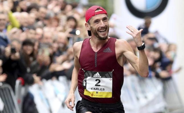 Castillejo: «Esta ha sido la más difícil de mis tres victorias en la Behobia - San Sebastián»