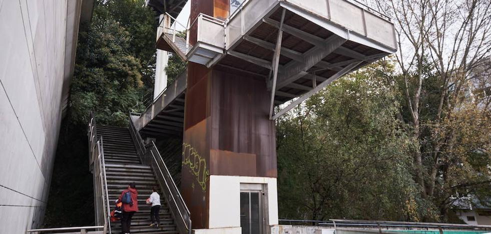 El ascensor de Egia volverá a funcionar a finales de la próxima semana