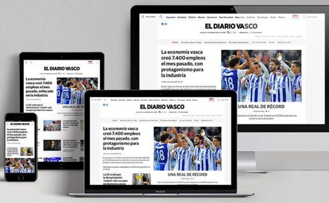 La web de El Diario Vasco obtiene el premio al mejor rediseño del año