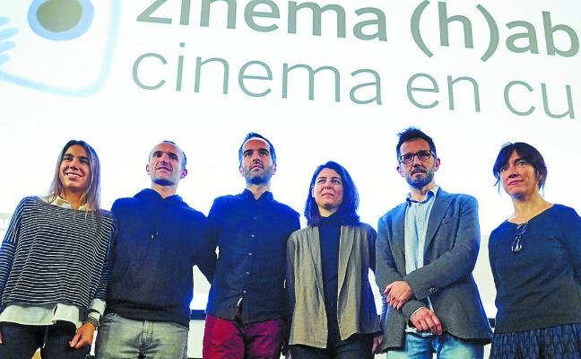 Zinema (H)abian lleva un proyecto de pedagogía a un instituto de Lasarte