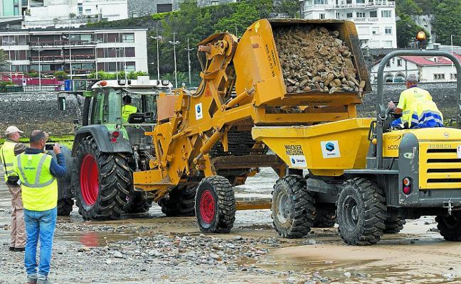 La retirada de piedras de Ondarreta contará con el triple de presupuesto el año que viene