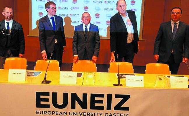 El Baskonia y las instituciones presentan una universidad ligada al deporte en Vitoria