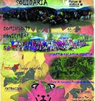 La III Marcha Solidaria de 'Marcan Huella' recorre Usartza y Kalamua