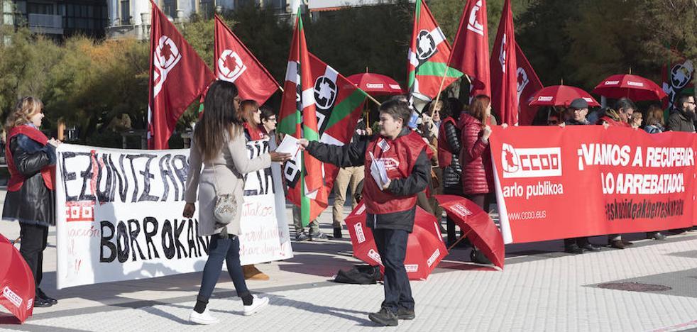 CC OO se moviliza ante Educación en San Sebastián