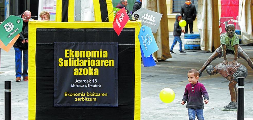 La economía solidaria a exposición en Merkatuzar