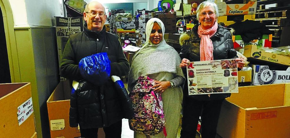 Campaña de ayuda al pueblo saharaui con un guiño a los más txikis