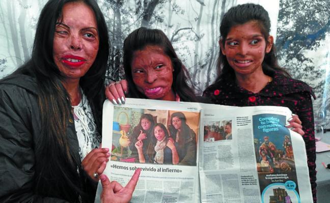 Las supervivientes de ataques con ácido conocen Pasaia
