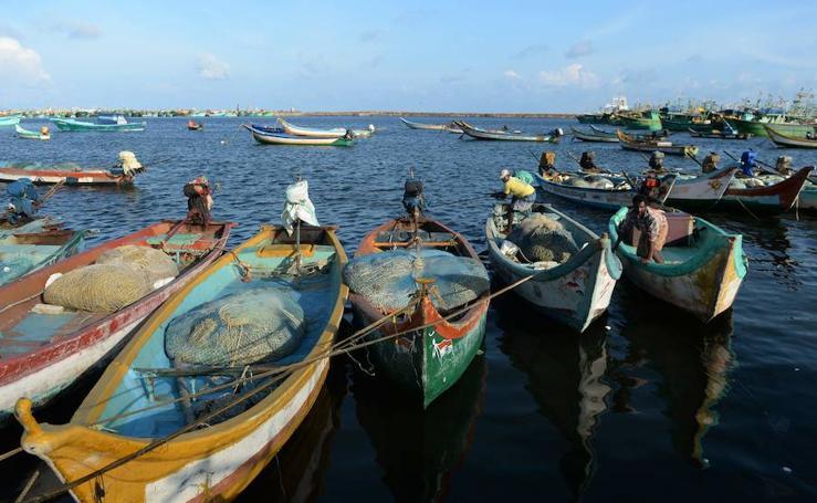 Pescadores indios